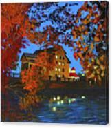 Cedarburg Mill At Night Canvas Print