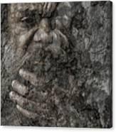 Cedric with hand on beard Canvas Print