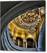 Ceiling And Chandelier In Bellagio Canvas Print
