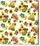 Celebrate Abundance Harvest Half Drop Repeat Canvas Print