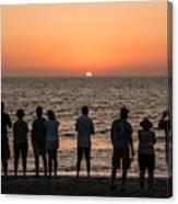 Celebrating The Sunset Canvas Print