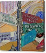 Celebration Town Directional Canvas Print