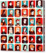 Celebrities Canvas Print