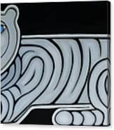 Celestial big white tiger woman Canvas Print