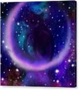 Celestial Crescent Moon Cat  Canvas Print