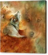 Celestial Wolves 2 Canvas Print