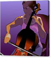 Cellist II Canvas Print
