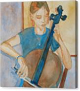 Cello Practice Iv Canvas Print