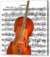 Cello With Clara Bow Canvas Print