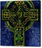 Celtic Cross - Harp Canvas Print