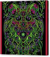 Celtic Day Of The Dead Skull Canvas Print