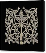 Celtic Leaves Knots One Canvas Print