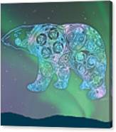 Celtic Polar Bear Canvas Print