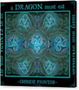 Celtic Snakes Mandala Canvas Print