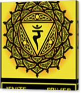 Celtic Tribal Solar Plexus Chakra Canvas Print