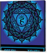 Celtic Tribal Throat Chakra Canvas Print