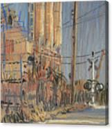 Cement Hopper Canvas Print