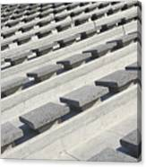 Cement Seats Canvas Print