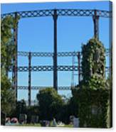 Cemetery And Gas Works Canvas Print
