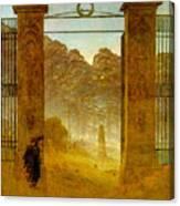 Cemetery At Dusk Hse Canvas Print