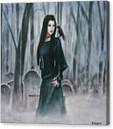 Cemetery Chic Canvas Print