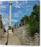 Cemetery Entrance And Lovejoy Monument  Canvas Print