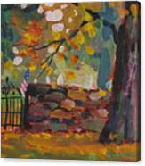Cemetery Gate Canvas Print