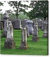 Cemetery Grunge Canvas Print