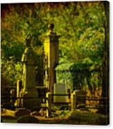 Cemetery In Charleston Canvas Print