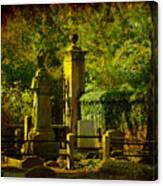 Cemetery In Charleston Canvas Print