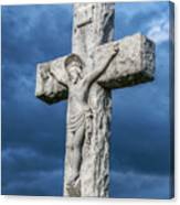 Cemetery Statue Of Jesus Canvas Print