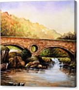 Cenarth Bridge And Falls Canvas Print
