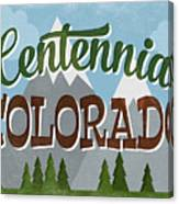 Centennial Colorado Snowy Mountains	 Canvas Print