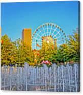 Centennial Fountains Canvas Print