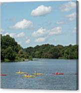 Centennial Lake Kayaks Canvas Print