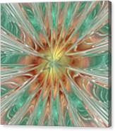 Center Hot Energetic Explosion Canvas Print