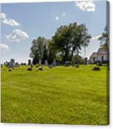 Center Ridge Cemetery Canvas Print