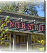 Center Street Cafe Sign Canvas Print
