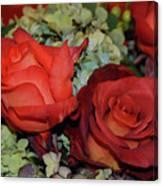 Centerpiece Roses Canvas Print