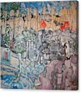 Central Avenue Street Bridge Albuquerque Canvas Print