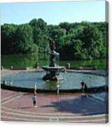 Central Fountain Canvas Print