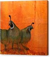 Central Oregon Quail Canvas Print