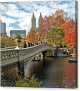 Central Park Autumn Cityscape Canvas Print