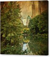 Central Park In Autumn Texture 4 Canvas Print