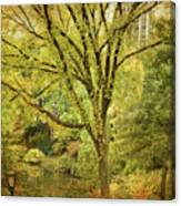 Central Park In Autumn Texture 5 Canvas Print