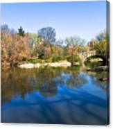Central Park In New York City Canvas Print