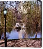 Central Park Sidewalk Canvas Print