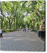 Central Park The Mall Canvas Print