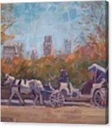Central Park Tourists Canvas Print