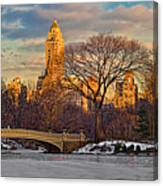 Central Parks Famous Bow Bridge Canvas Print